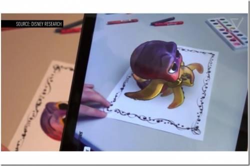 迪士尼新款 APP 把著色本上的可愛人物化作3D影像!
